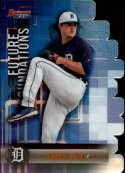 2019 Bowman's Best Future Foundations Die-Cuts Refractor #FF-CM Casey Mize Detroit Tigers  Official MLB Baseball Trading Card produced by Topps