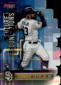 2019 Bowman's Best Future Foundations Die-Cuts Refractor #FF-FTJ Fernando Tatis Jr. San Diego Padres  Official MLB Baseball Trading Card produced by T