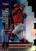 2019 Bowman's Best Future Foundations Die-Cuts Refractor #FF-JA Jordyn Adams Los Angeles Angels  Official MLB Baseball Trading Card produced by Topps
