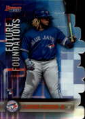 2019 Bowman's Best Future Foundations Die-Cuts Refractor #FF-VGJ Vladimir Guerrero Jr. Toronto Blue Jays  Official MLB Baseball Trading Card produced