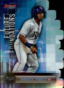 2019 Bowman's Best Future Foundations Die-Cuts Refractor #FF-WF Wander Franco Tampa Bay Rays  Official MLB Baseball Trading Card produced by Topps