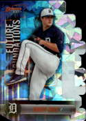 2019 Bowman's Best Future Foundations Die-Cuts Refractor Atomic #FF-CM Casey Mize Detroit Tigers  Official MLB Baseball Trading Card produced by Topps