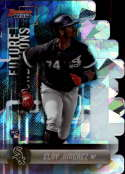 2019 Bowman's Best Future Foundations Die-Cuts Refractor Atomic #FF-EJ Eloy Jimenez Chicago White Sox  Official MLB Baseball Trading Card produced by