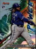 2019 Bowman's Best Power Producers Refractor #PP-VGJ Vladimir Guerrero Jr. Toronto Blue Jays  Official MLB Baseball Trading Card produced by Topps