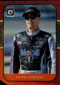 2020 Donruss Racing Optic Red Mojo Prizm #65 Kevin Harvick Mobil 1/Stewart-Haas Racing/Ford  Official Panini America NASCAR Trading Card (Wrapper Rede