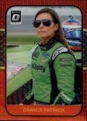 2020 Donruss Racing Optic Red Mojo Prizm #87 Danica Patrick GoDaddy.com/Premium Motorsports/Chevrolet  Official Panini America NASCAR Trading Card (Wr