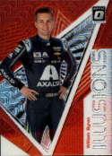 2020 Donruss Racing Optic Illusion Red Mojo Prizm #4 William Byron AXALTA/Hendrick Motorsports/Chevrolet  Official Panini America NASCAR Trading Card