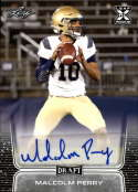 2020 Leaf Draft (NFL) Football Autograph Silver #BA-MP1 Malcolm Perry Auto Navy Midshipmen Pre Rookie RC Official Player Licensed Trading Card (in NCA