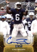 2020 Leaf Draft (NFL) Football Autograph Gold #BA-CB1 Cam Brown Auto Penn State Pre Rookie RC Official Player Licensed Trading Card (in NCAA Uniform)