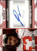 2020 SAGE HIT Premier Draft (NFL) Autograph Red #A28 Davon Hamilton Auto Ohio State Buckeyes  Pre-Rookie RC Official Player Licensed Football Trading