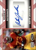 2020 SAGE HIT Premier Draft (NFL) Autograph Red #A36 Austin Jackson Auto USC Trojans  Pre-Rookie RC Official Player Licensed Football Trading Card