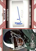 2020 SAGE HIT Premier Draft (NFL) Autograph Red #A38 Raequan Williams Auto Michigan State Spartans  Pre-Rookie RC Official Player Licensed Football Tr