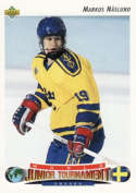 1992-93 Upper Deck Low Series 1 Hockey #234 Markus Naslund RC Rookie  Official UD NHL Trading Card
