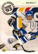 1992-93 Upper Deck High Series 2 Hockey #617 Saku Koivu RC Rookie  Official UD NHL Trading Card