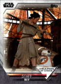 2020 Topps Women of Star Wars Weapon of Choice #WC-16 Rey