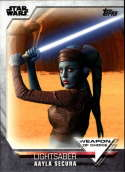 2020 Topps Women of Star Wars Weapon of Choice #WC-18 Aayla Secura