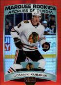 2019-20 OPC Platinum Hockey Red Prism #186 Dominik Kubalik RC Rookie SERPR199 Chicago Blackhawks  Official Upper Deck O-Pee-Chee NHL Trading Card (Sca