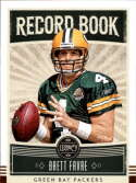 2020 Legacy Football Record Book #19 Brett Favre Green Bay Packers  Official NFL Trading Card by Panini America