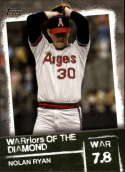 2020 Topps Series 2 Baseball WARriors of the Diamond #WOD-28 Nolan Ryan California Angels  Official MLB Trading Card