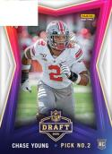 2020 Panini Instant Draft Night Football #30 Chase Young Ohio State Buckeyes RC Rookie Official NFL Trading Card FIRST RELEASED CARD WITH NFL LOGO LI